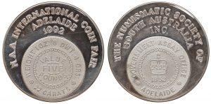 NAA Coin Fair 1992 Silver