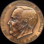 Ray Jewell Award Medal Reverse